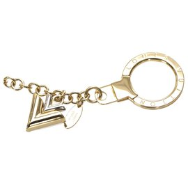 Louis Vuitton-Louis Vuitton Gold Jingle V Chain Bag Charm-Argenté,Doré