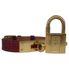 Hermès-Fine watches-Dark red