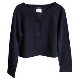 Chanel-new cashmere cardigan-Black