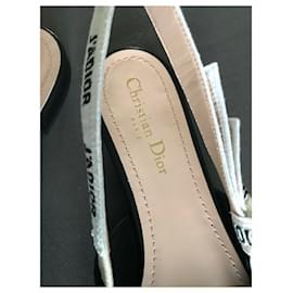 Dior-BALLERINE J'ADIOR EN TOILE TECHNIQUE NOIRE-Noir