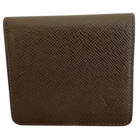 Louis Vuitton-Wallets Small accessories-Brown,Khaki