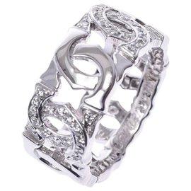 Cartier-Cartier Entrelaces diamant # 50-Argenté