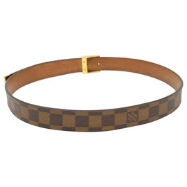 Louis Vuitton-Louis Vuitton Ceinture Carre-Brown