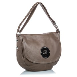 Mulberry-Mulberry Brown Leather Daria Shoulder Bag-Brown