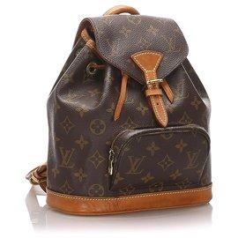 Louis Vuitton-Louis Vuitton Brown Monogram Mini Montsouris-Brown