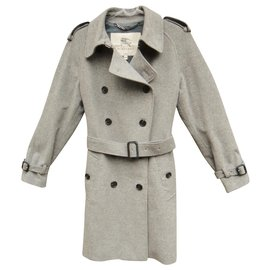 Burberry-winter trench Burberry London t 38 wool / cashmere-Grey