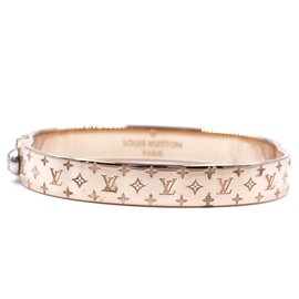 Louis Vuitton-Louis Vuitton Rose Gold Monogram Nanogram Bangle Taille M-Doré