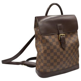 Louis Vuitton-Louis Vuitton backpack in checkered canvas-Brown
