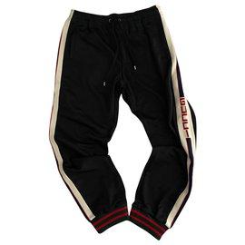Gucci-pantalon de jogging gucci-Noir