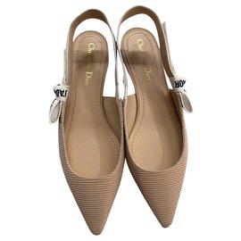 Dior-DIOR J'ADIOR BALLERINE BALLET FLATS NEW BEIGE-Beige