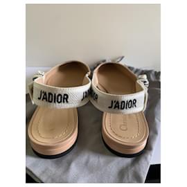 Dior-DIOR J'ADIOR BALLERINE BALLET FLATS NEW BEIGE MARQUE NEW-Beige