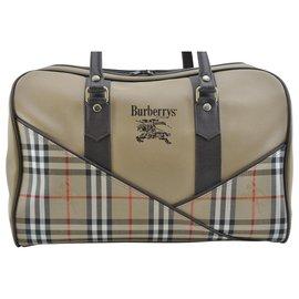 Burberry-Burberry Boston Travel Bag-Beige