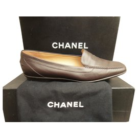 Chanel-Chanel p loafers 38-Dark brown