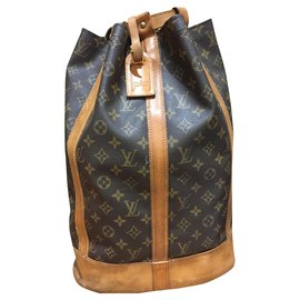 Louis Vuitton-Backpacks-Caramel,Dark brown