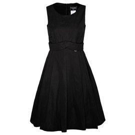 Chanel-black flare dress-Black