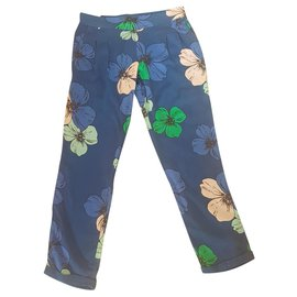 Chloé-Pants-Navy blue,Light blue