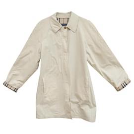 Burberry-Burberry short raincoat 38-Eggshell