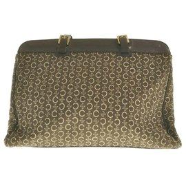 Céline-Céline Vintage Shoulder Bag-Brown