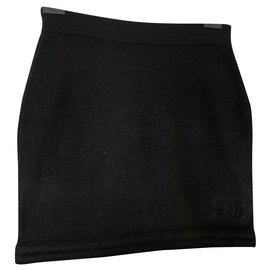 Chanel-Skirts-Black