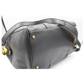 Chanel-Chanel Boston handbag in black leather – travel bag-Black