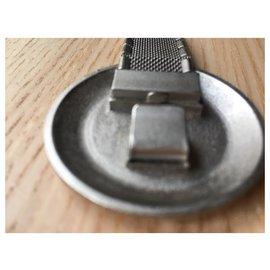 Chanel-Chanel Astronaut Stainless steel CC Belt Silver-Metallic