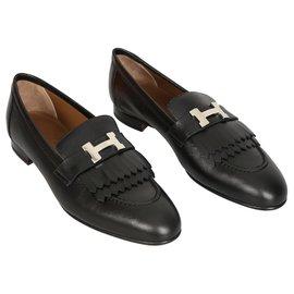 Hermès-Hermes Mocassins Royal-Black