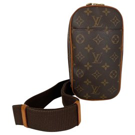 Louis Vuitton-Bags Briefcases-Brown,Beige