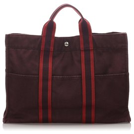 Hermès-Hermes Brown Fourre Tout MM-Brown,Red