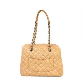 Chanel-Chanel Brown Matelasse Leather Shoulder Bag-Brown