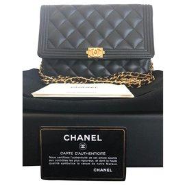 Chanel-Chanel Boys Wallets On Chain Bag-Black