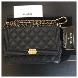 Chanel-Sac Boys Wallets On Chain Chanel-Noir