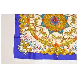 "Hermès-Hermès Silk scarf ""Luna Park"" 90-Blue"