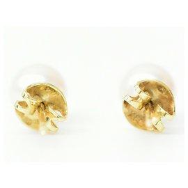Mikimoto-Boucle d'oreille Mikimoto-Doré