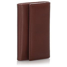 Gucci-Porte-clés en cuir marron Gucci-Marron