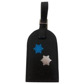 Louis Vuitton-Charmes de sac-Noir,Argenté,Bleu,Multicolore