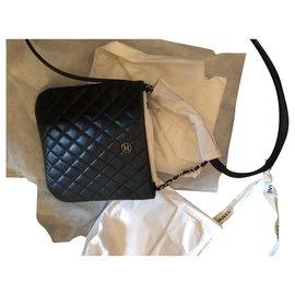 Chanel-Chanel, Pochette bandoulière uniforme-Noir,Argenté