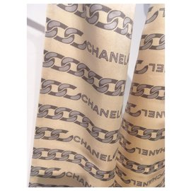 Chanel-Scarves-Beige