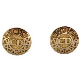 Christian Dior-Boucles d'oreilles-Doré