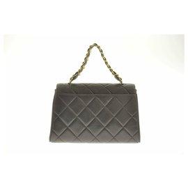 Chanel-Chanel Lamb Skin Matelasse Chain-Black