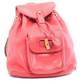 Gucci-Gucci Backpack bamboo-Red