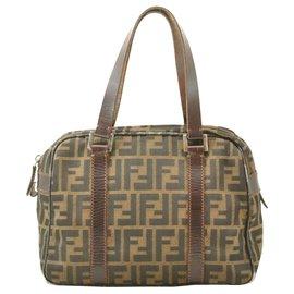 Fendi-Fendi Hand Bag-Khaki