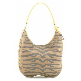 Fendi-Fendi Zebra Pattern Nylon-Khaki
