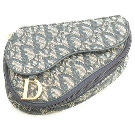 Dior-Pochette de selle en toile Dior Trotter-Bleu