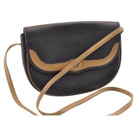 Dior-Sac à bandoulière en cuir Dior-Noir