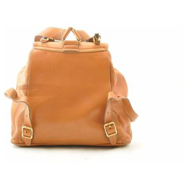 Gucci-Gucci Bamboo Backpack Diamante-Brown
