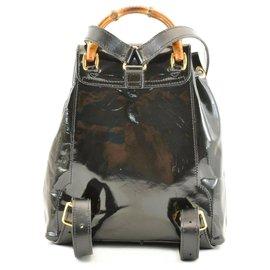 Gucci-Gucci Bamboo Backpack-Black