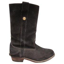 Céline-Céline Camarais boots p 38-Dark brown