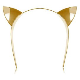 Maison Michel-cute cat ears headband-Golden