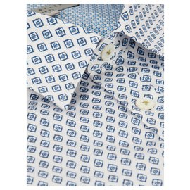 Ted Baker-Shirts-White,Blue
