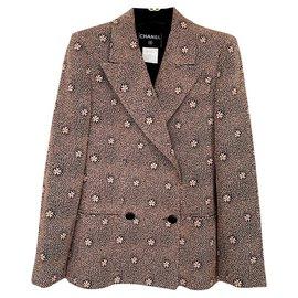 Chanel-''Camelias'' silk jacket-Multiple colors